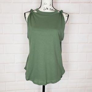 We The Free Cut Out Shoulder Tank Top Size M